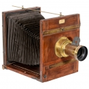 L. & A. Boulade Frères French Field Camera 24 x 30 cm, c. 1880
