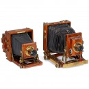 2 English Compact Style Folding Cameras
