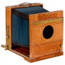 German Teak Field Camera 18 x 24 cm, c. 1900