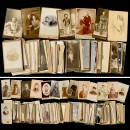 Approx. 420 Cartes-de-Visite and Cabinet Pictures