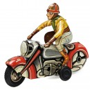 Motorcyclist by Göso, c. 1950