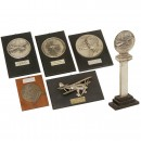 5 Commemorative Plaques and 1 Trophy, 1937-44
