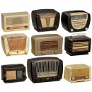 9 Bakelite Radio Receivers