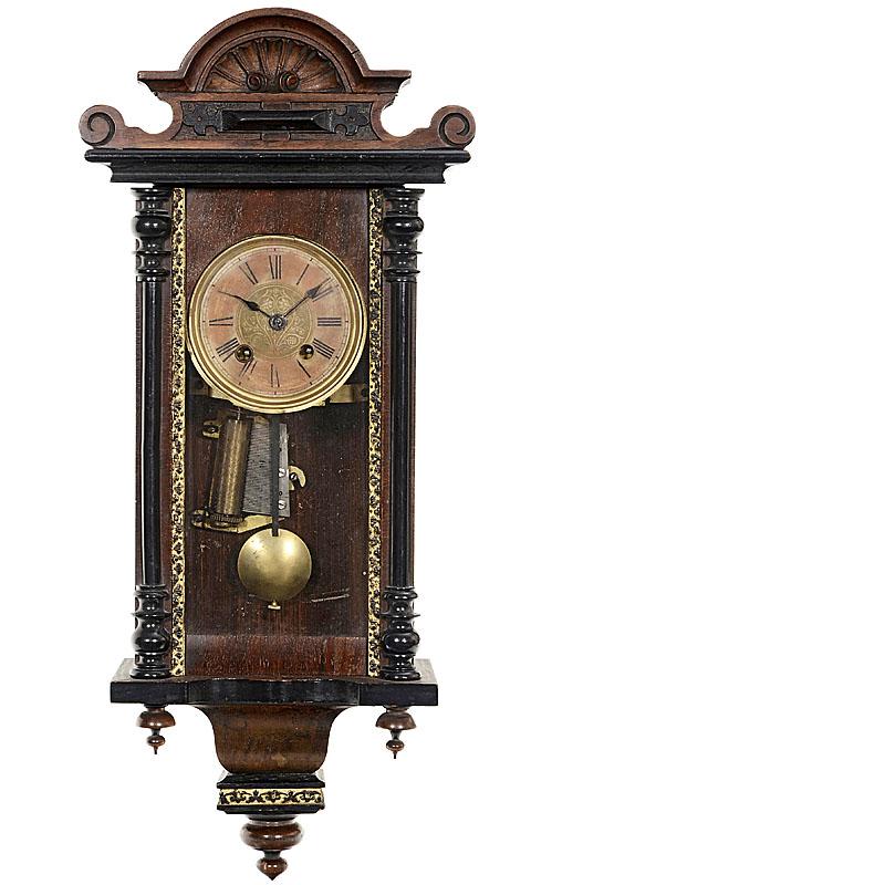 德国经济繁荣时期音乐钟摆挂钟,1900年前后