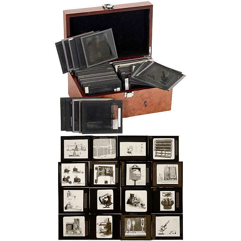 黑白幻灯片投影器 约1900年
